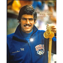Poster Autografiado Mark Spitz Natacion Juegos Olimpicos