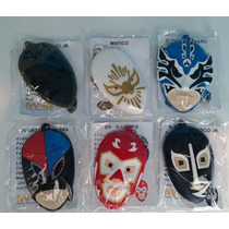 Llaveros Mascaras De Luchadores Corona Colección Completa 6