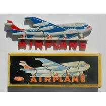 Vintage Avion Rompecabezas Adorno Iman Para Refrigerador