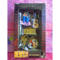 Elvis Presley Set De Ornamentos Originales