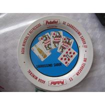 Antiguo Mini Charolita De Refrescos Peñafiel 9cm.