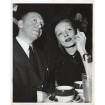 Fotografía Original D Prensa Marlene Dietrich Otto Preminger