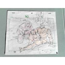 Original Capcom Storyboard De Streetfighter Street Fighter