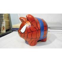 Alcancia De Puerquito Personalizadas Spiderman 17 Cms Ahorro