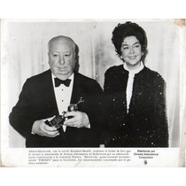 Foto Original Alfred Hitchcock Rosalind Russell Globo De Oro