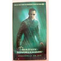 Matrix Revoluciones / Keanu Reeves / Exhibidor De Dvd