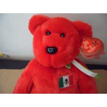 Peluche Ty Beanie Babies Osito Edicion Mexico Souvenir Bear