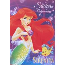 La Sirenita Ariel Disney Block De Stickers / Nuevo Original