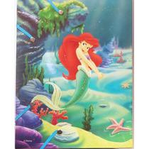 La Sirenita Ariel Disney Set De Escritural / Nuevo Original