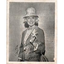 Foto Doris Day Autografia Impresa Para Kelinda Y Max Factor