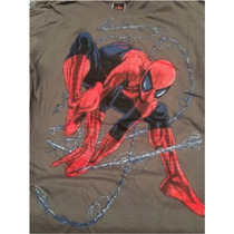 Playera Marvel Spiderman Avengers Nueva Talla Grande