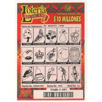 L67- 5 Boletos Loteria Instantanea Usados México Años 90´s