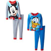 Mickey Mouse Y El Pato Donald Cuatro Piezas Disney Little Bo