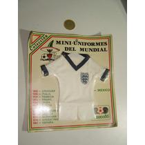 Mini Uniforme Pique Mundial México 86 Inglaterra