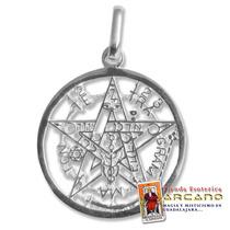 Poderoso Pentagrama En Plata .925 - Diámetro 2.5cm
