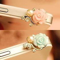 Flor Cristales Plug Accesorio 3.5mm Antipolvo Celular