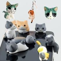 Gato Gatitos Colguijes Antipolvo Plug Para Celular Tablet