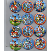 Botones Paw Patrol Mide 5.5 Cm De Diametro (paq.12 Piezas)