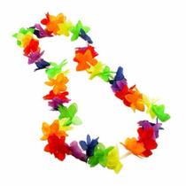 Collar Hawaiano Para Fiestas Y Eventos Paquete Con 10 Pzas