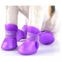Botas De Lluvia Impermeable Para Perro Gato Talla S M L E4f