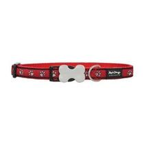 Collar Red Dingo Diseñador Collar De Perro, Mediano Red Paw