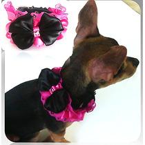 Collar De Piel Para Mascota Decorado Perro Gato Encage