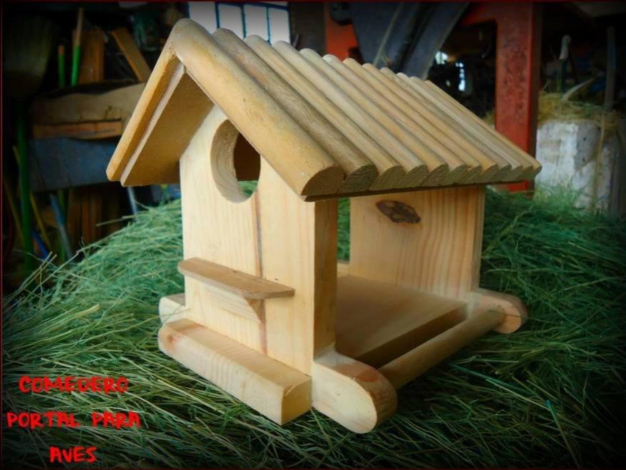 Comedero para pajaros casa para aves de madera vv4 en mercadolibre - Casa para pajaros ...