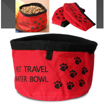 Plato Portatil Para Perro Gato Agua Comida Flexible Viajar