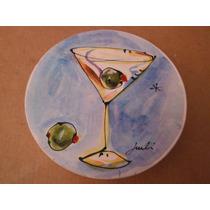Set De 4 Coasters Porta Vasos Martini Bar Cantina Kitchen