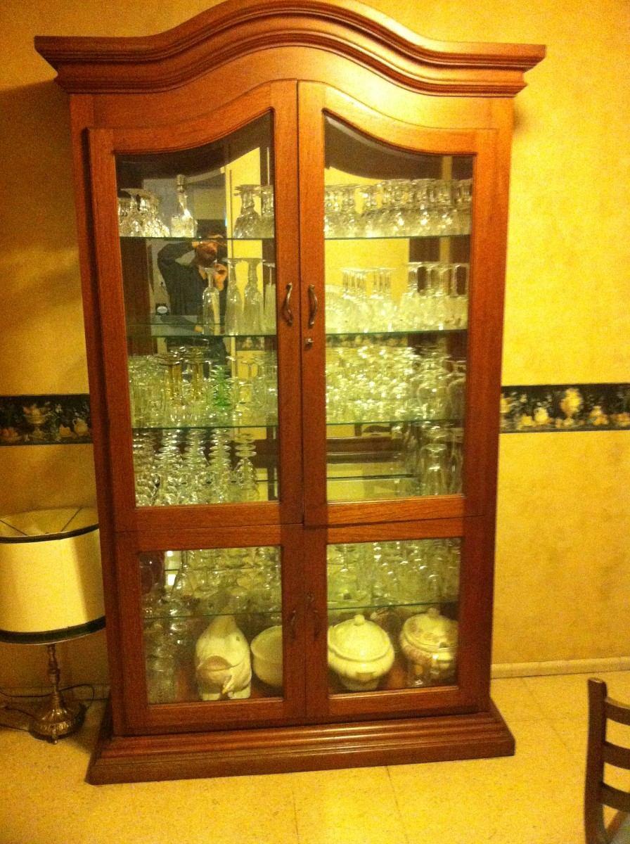 Caoba Real Iluminado Para Cristaleria Cocina Espejo  $ 7,89900 en