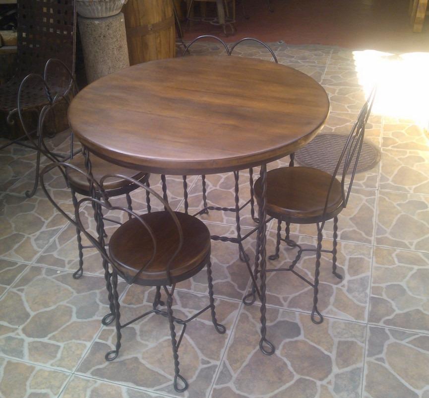Comedor de forja estilo antigua cantina 4 en - Estilos de sillas antiguas ...