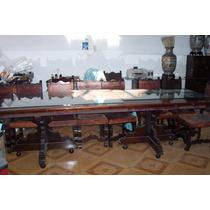 Comedor En Caoba Tipo Hacienda Con Comodas Y Chifonier