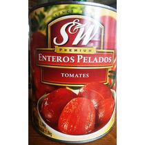Jitomates Enteros Pelados En Lata 2,9kg Salsa Pizza Italiana