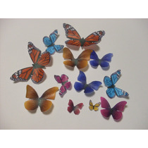 12 Mariposas 100% Oblea Comestibles Para Decorar Au1