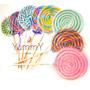 14 Febrero Regalo 10 Paletas Caramelo Espiral Colores Fiesta