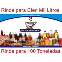 Benzoato De Sodio 100 Gr. Para 100 Toneladas O Cien Mil Lts.