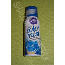 *spray Comestible Azul Color Mist Wilton Pastel Fondant*