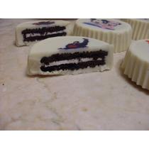 Galleta Cubierta De Chocolate Personalizadas Con Foto, Texto