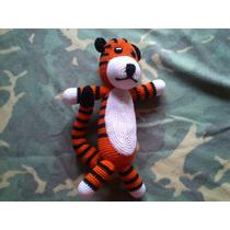 Muñeco Tejido De Calvin And Hobbes (tejido A Mano)