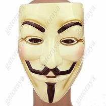 Mascara V De Vendetta Venganza Anon Anonymous Disfraz Econom