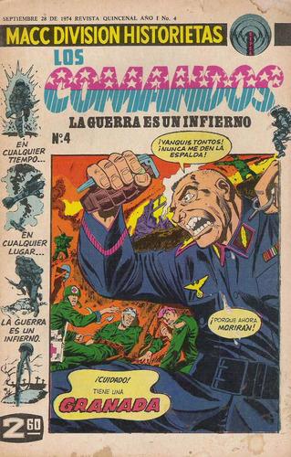 Comics Antiguos Los Comandos Belico Guerra Macc Division Rym