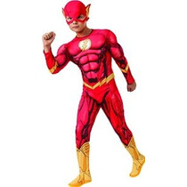 Rubíes Dc Comics Deluxe Muscle-pecho The Flash Traje Niño Pe