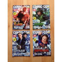 Sdcc 2015 Tv Guide 4 Portadas Flash Arrow Gotham Supergirl