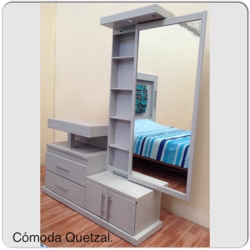 C moda de rec mara con espejo perfumero 3 en - Espejos para comodas de dormitorio ...