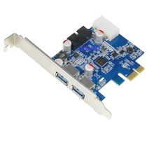 Tarjeta Pci Express -2 Puertos Usb 3.0 - Chipset Nec- 20 Pin