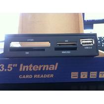 Card Reader / Lector De Tarjetas 3.5 Interno K-mex Usb 2.0