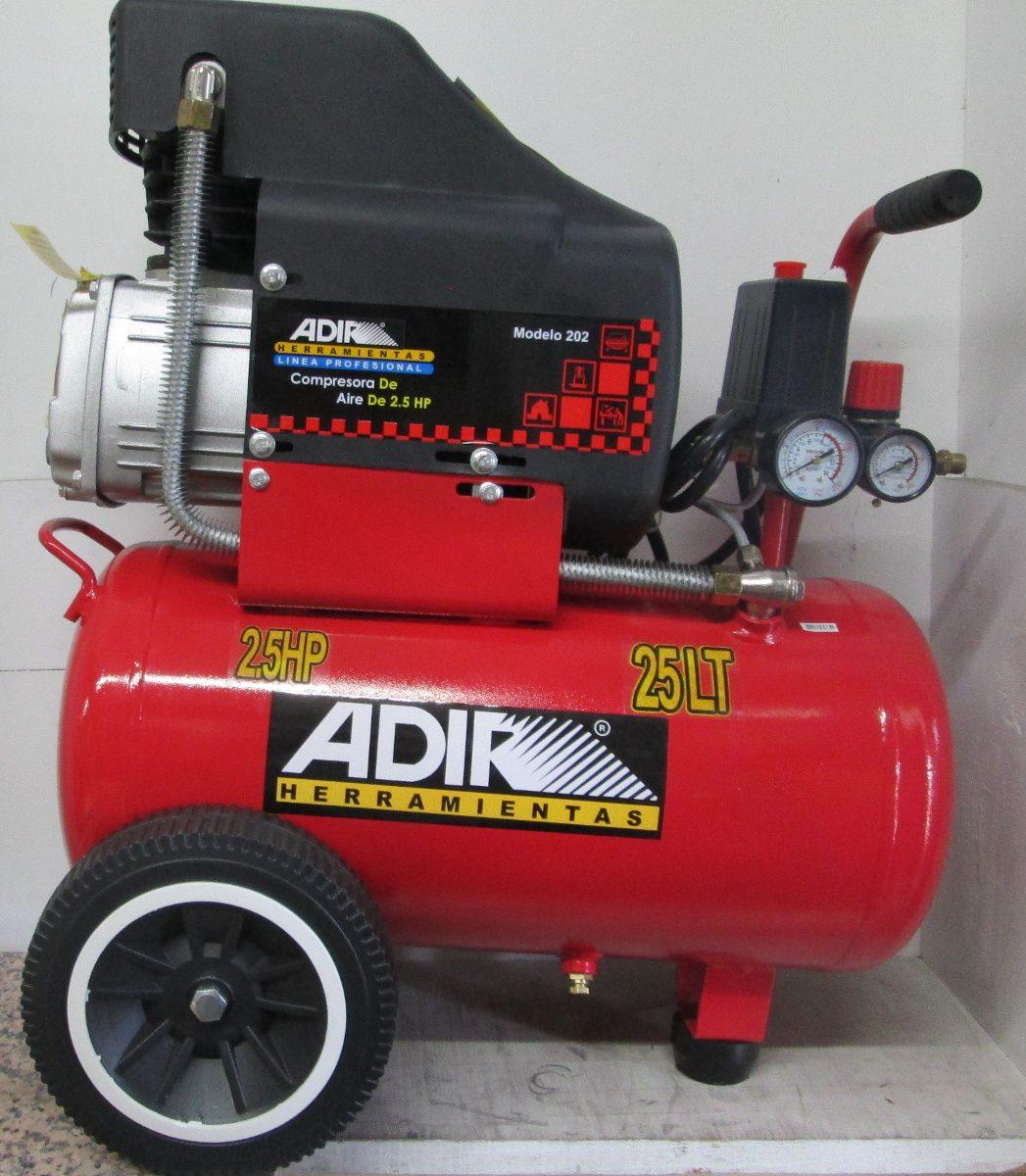 Compresor de aire con tanque de 25lts adir 202 vv4 - Compresor de aire precios ...
