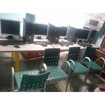 Cyber Cafe Internet Completo Mesas Sillas Red Flete Instalo