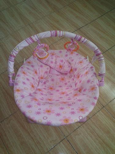 Silla mecedora para bebe con vibrador rosa en for Silla mecedora para bebe