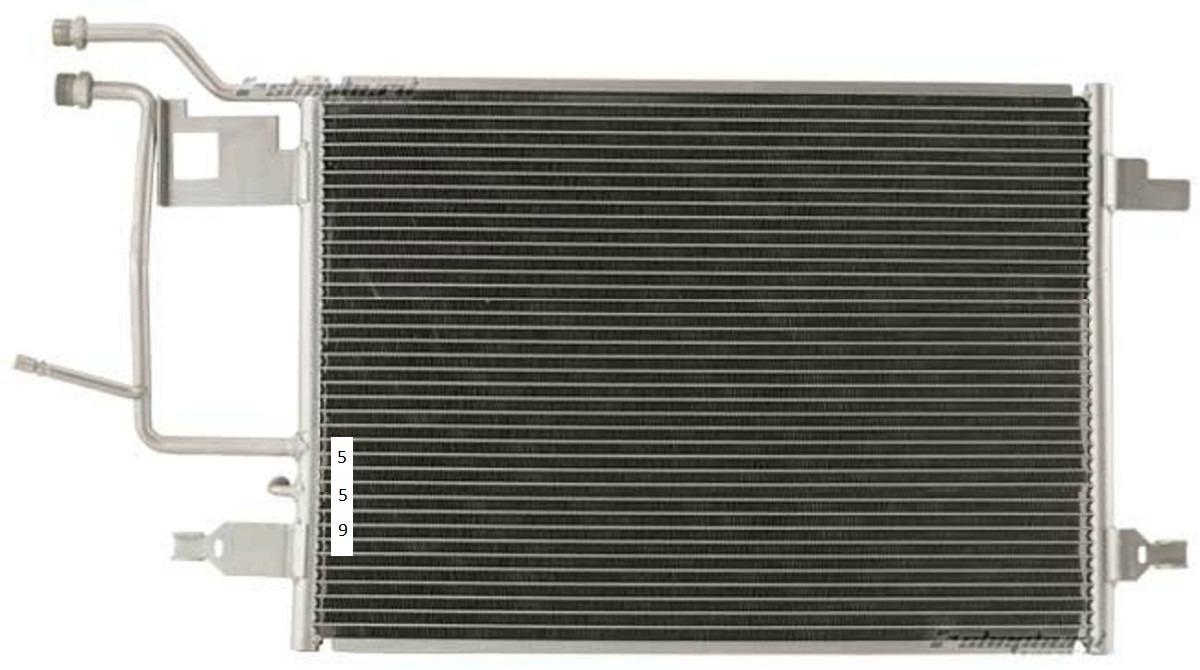 Condensador aire acondicionado audi s4 2000 2002 calidad - Radiadores de aire ...